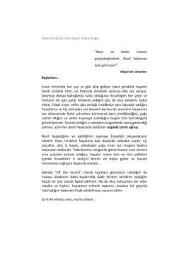 Fatma Ergüzeloğlu: Yalçın bey merhaba, bu kitap bir nevi biyografi