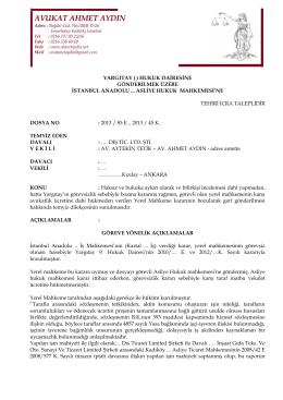 hukuk dairesine gönderilmek üzere istanbul anadolu asliye hukuk