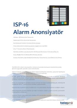 ISP-16 Alarm Anonsiyatör
