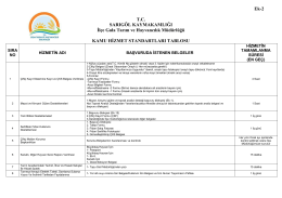 hizmetstandardi - Manisa İl Gıda Tarım ve Hayvancılık Müdürlüğü