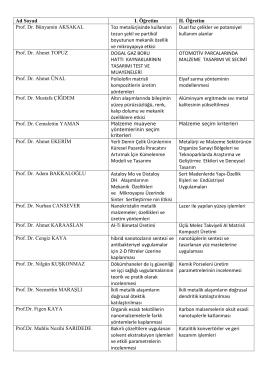 2014-2015 Güz Tasarım Uygulamaları Konu Listesi