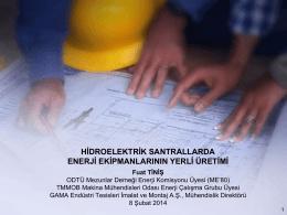 hidromekanik ekipmanlar - ODTÜ Mezunları Derneği