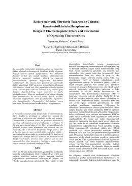 Elektromanyetik Filtrelerin Tasarımı ve Çalışma