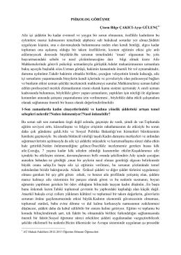 Psikolog ile Röportaj (PDF) - Ev