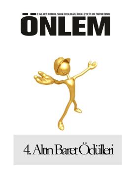 4. Altın Baret Fotoğraf Yarışması Şartnamesi