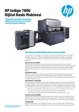 HP Indigo 7800 Dijital Baskı Makinesi