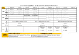 Spor Bilimleri Ders Programı