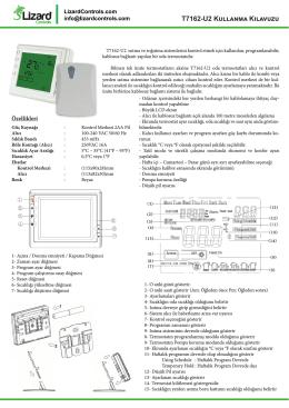 T7162-U2 Kullanma Kılavuzu - Otomasyon Kontrol Market