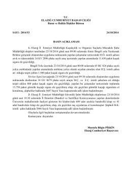 2014/53 24/10/2014 BASIN AÇIKLAMASI 1