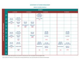 Turizm İşletmeciliği Bölümü Haftalık Ders Programı