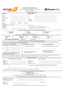 Finansinvest Bireysel Talep Formu