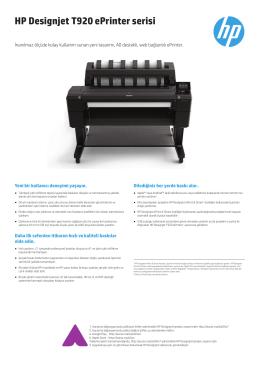 HP Designjet T920 ePrinter serisi