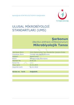 Şarbon - Türkiye Halk Sağlığı Kurumu