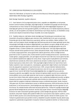 TRT 1 ENİNE BOYUNA PROGRAMI(19.01.2014