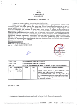 Ornek No: 25* ADANA 8. ICRA DAIRESI 2014/216 TLMT