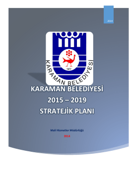 Stratejik Plan - Karaman Belediyesi