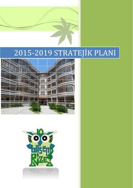 2015-2019 Stratejik Planı