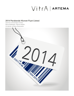 2014 Perakende Hizmet Fiyat Listesi