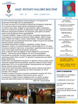 Slayt 1 - Ankara Gazi Rotary Kulübü