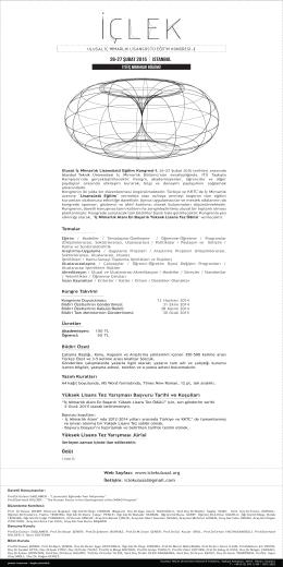 ıstanbul 26-27 şubat 2015 - İstanbul Teknik Üniversitesi