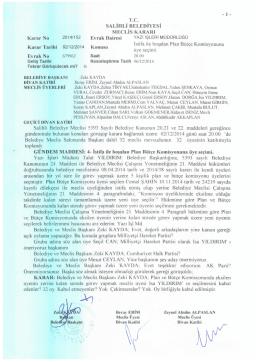 2014/152 istifa ile boşalan plan bütçe