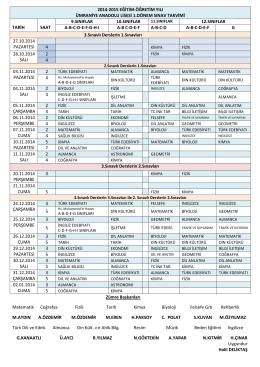 Sınav 2014-2015 1. dönem