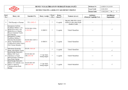 Denizli Tekstil Laboratuvarı Hizmet Profili