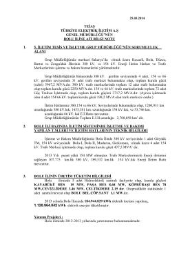Bolu İl Bilgileri - Teiaş 5. İletim Tesis ve İşletme Grup Müdürlüğü