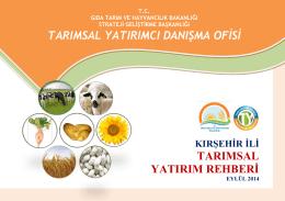 kirsehir - TC Gıda Tarım ve Hayvancılık Bakanlığı