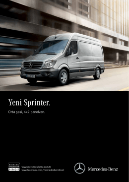 Yeni Sprinter. - Mercedes-Benz
