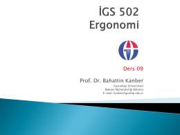 Ders 09 Prof. Dr. Bahattin Kanber