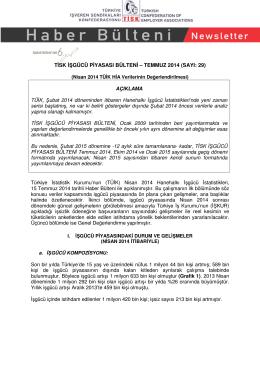 Tisk İşgücü Piyasası Bülteni