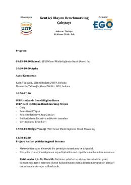 Kent içi Ulaşım Benchmarking Çalıştayı
