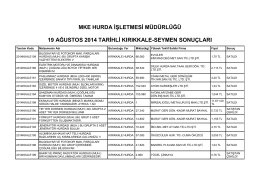 19 ağustos 2014 tarihli kırıkkale-seymen sonuçları