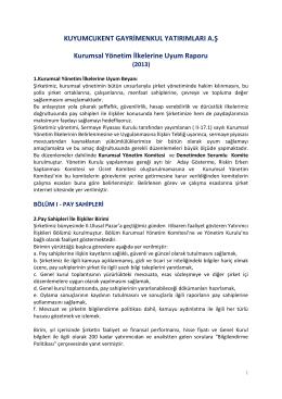 KUYUMCUKENT GAYRİMENKUL YATIRIMLARI A.Ş Kurumsal