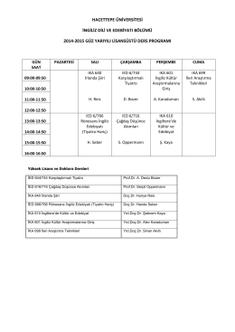 İDE-14-15-Güz-Lisansüstü Ders Programı