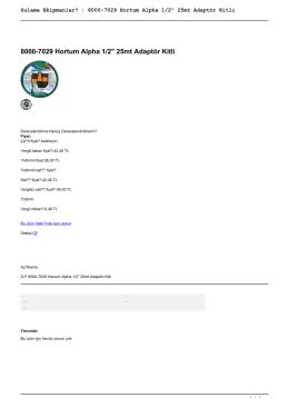 """Sulama Ekipmanları : 8000-7029 Hortum Alpha 1/2"""" 25mt Adaptör Kitli"""