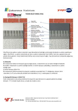 Ultratherm Teknik Bilgi Formu