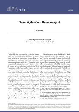 """""""Alevi Açılımı""""nın Neresindeyiz? (SETA – 2014) (pdf)"""