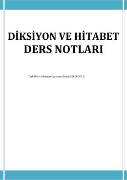 DERS NOTLARI - Türk Dili ve Edebiyatı Öğretmeni