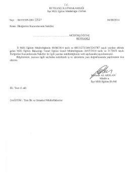 İlköğretim Kurumlarında Nakiller - reyhanlı ilçe millî eğitim müdürlüğü
