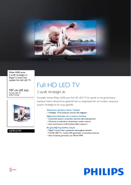 42PFK5199/12 Philips 2 taraflı Ambilight ve Digital Crystal Clear