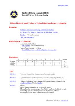 sayfasını - Türkiye Bilişim Derneği