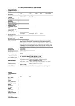 Yazılı Teklif veya Poliçe isteme ile ilgili Formu