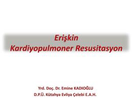 çocuklarda kardiyopulmoner resüsitasyon