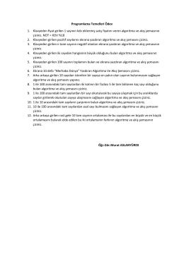 Programlama Temelleri Ödev 1. Klavyeden fiyat girilen 1 sayının kdv