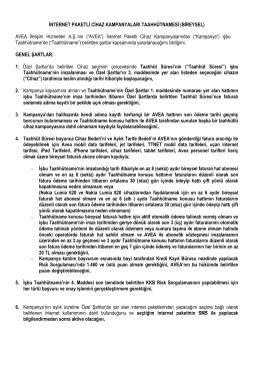 İNTERNET PAKETLİ CİHAZ KAMPANYALARI