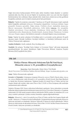 Caryophyllaceae - Biyoloji Kongreleri