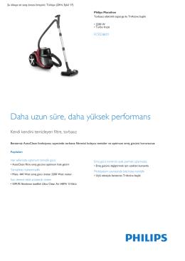 Product Leaflet: 2200 W Torbasız elektrikli süpürge ile TriActive başlık