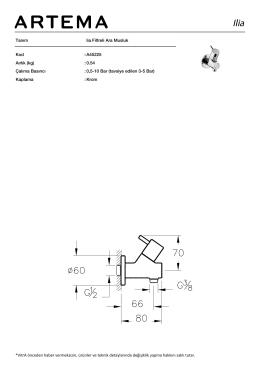 Tanım lia Filtreli Ara Musluk Kod :A45225 Aırlık (kg) :0.54